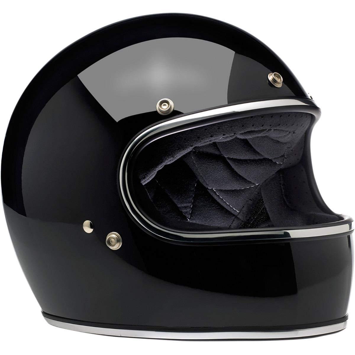 Biltwell Gringo Mega Flake Motorcycle Helmet Brite Silver XL
