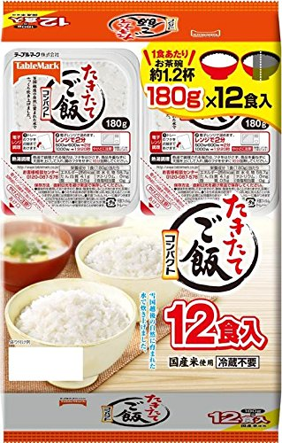 TableMark cooked rice compact domestic rice used 12 meals (180gX12 pieces) by TableMark