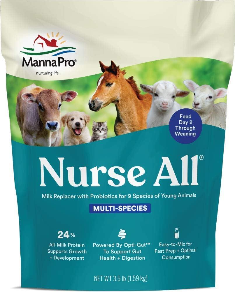 Manna Pro NurseAll Non-Medicated Milk Replacer, 3.5 lb