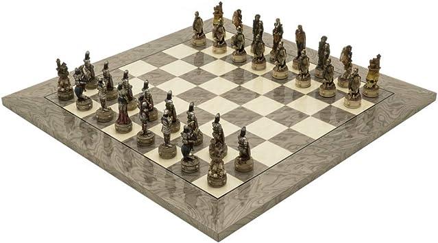 The Regency Chess Company Ltd The Zombie y Gris Ceniza Deluxe Juego de ajedrez: Amazon.es: Juguetes y juegos