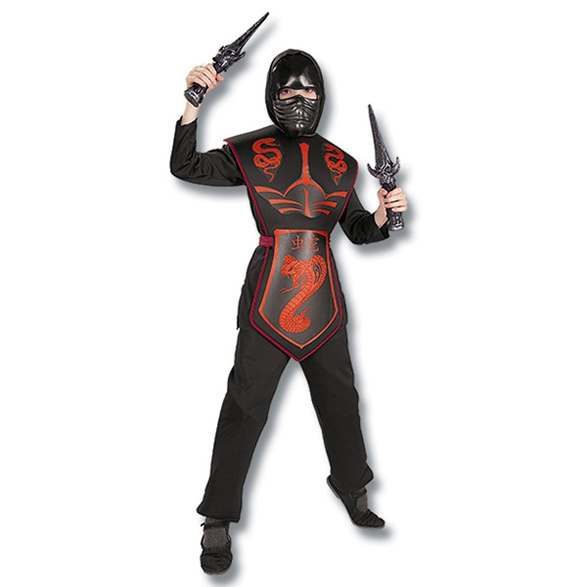 Rubies Costume Co Cobra Ninja Costume, Large, Red, One Size 882399-L