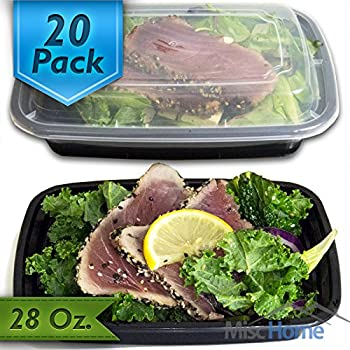 Amazoncom 20 Pack 28 Oz Meal Prep Containers BPA Free Plastic