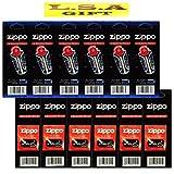 2 X Zippo Lighter 6 Flints 6 Wicks Pack of 12 Value Packs