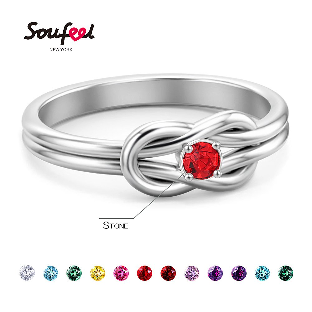 SOUFEEL Promise Rings For Her Sterling Silver Ring Custom Engagement Rings Size 7 by SOUFEEL (Image #3)