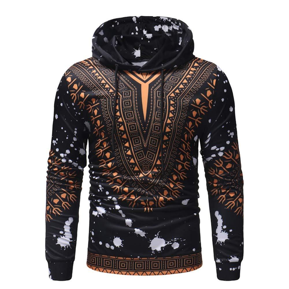 Fatchot uomo felpe con cappuccio autunno inverno africano stile etnico 3D Dashiki stampa a maniche lunghe con cappuccio pullover casual top party