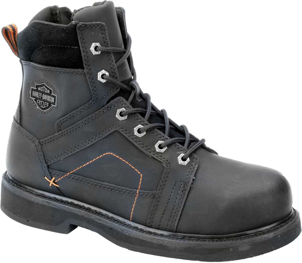 Harley-Davidson Men's Pete Steel Toe Motorcycle Safety Boot, Black, 9.5 M US by HARLEY-DAVIDSON