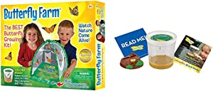 Insect Lore Butterfly Farm Bundle with Cup of Caterpillars – Life Science & STEM Education