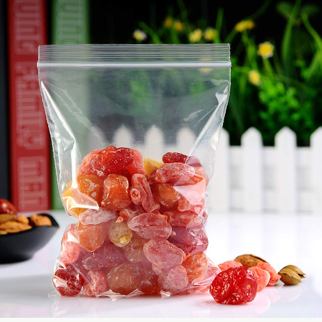 1500 Pack Plastic Poly Zipper Bag 2 x 3 Inches Bead Crafts Clear Poly Zipper Bags Resealable Tiny Ziplock Storage Small Plastic Bag for Jewelry