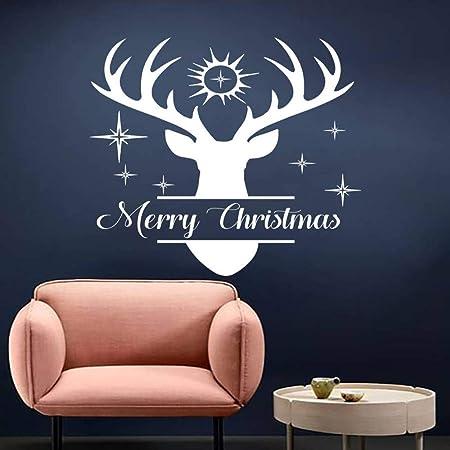 wukongsun Feliz Navidad Pegatina de Pared Ciervo Apliques de ...