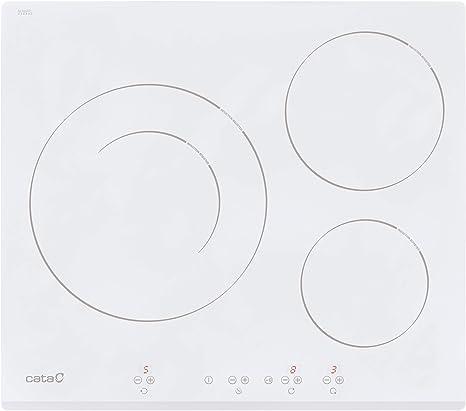 Opinión sobre Cata IB 6030 WH (Integrado, con Placa de inducción, Blanco, 1200 W, Alrededor, 16 cm), 2700 W, Vidrio, Acero Inoxidable