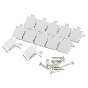 white metal clips Shelf Support (Set of 12)
