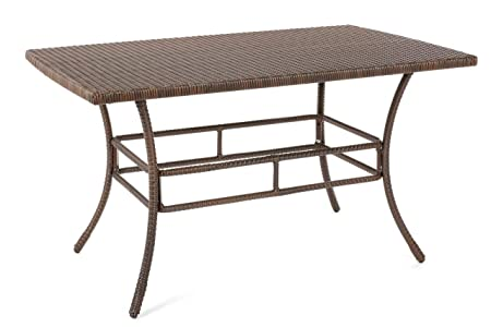 W Unlimited SW1616-DT Leisure Collection Outdoor Garden Patio Furniture Dining Table, Dark Brown