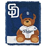 MLB San Diego Padres Field Woven Jacquard Baby Throw Blanket, 36x46-Inch