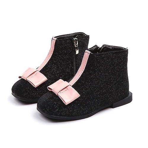 Malloom Las niñas de los niños de otoño e Invierno más Botines de algodón Botas de Cuero Princesa Nieve cálida Martin Botas Zapatos: Amazon.es: Zapatos y ...