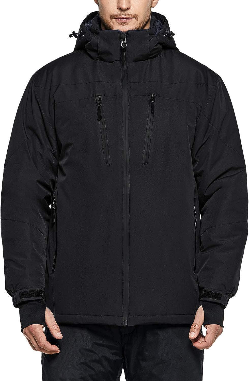 TSLA Men's Ski Jacket Hiking Waterproof Outdoors Windproof Snow Active Hooded Coat