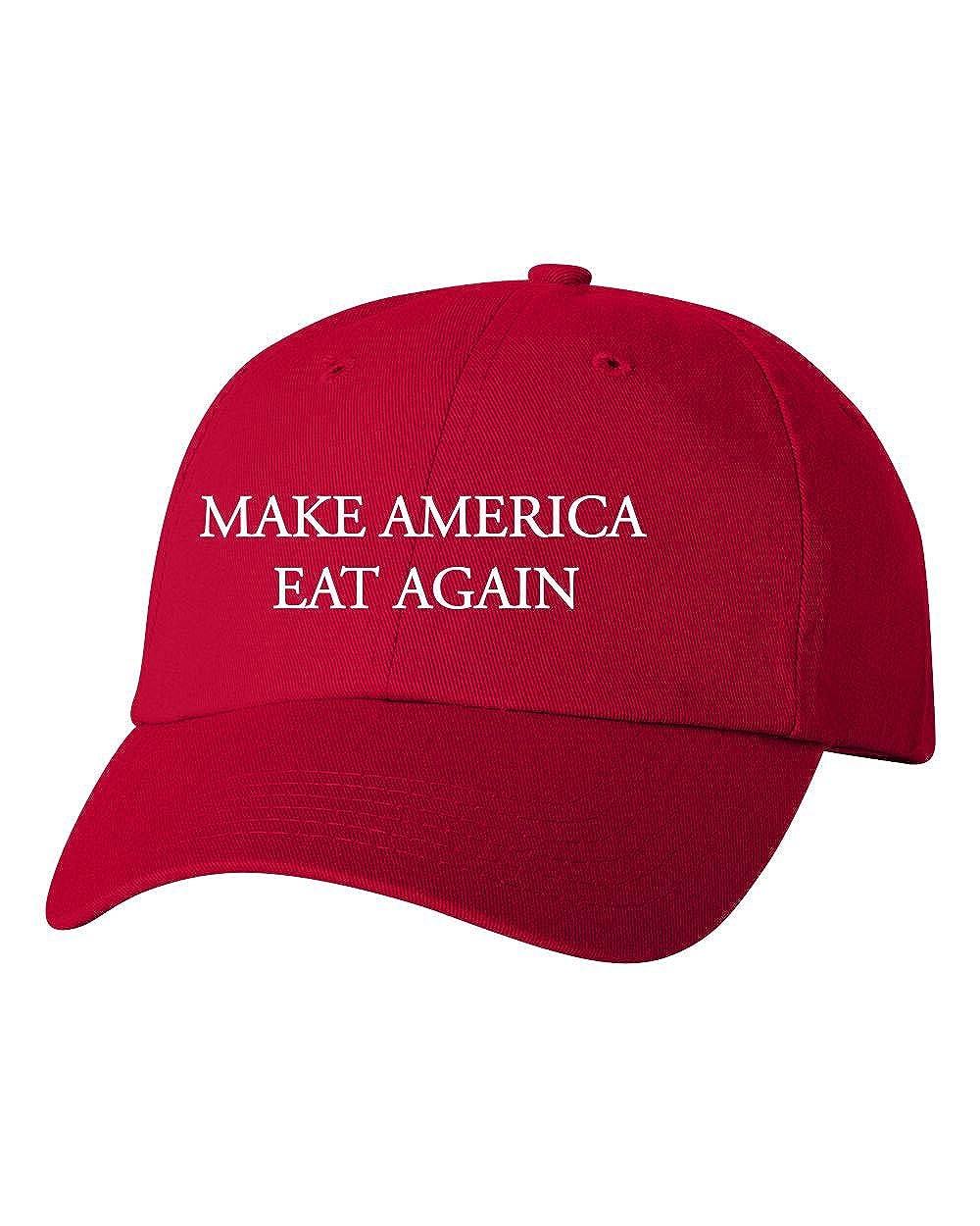 Custom Make America Eat Again Dad Hat Cap Baseball Adjustable New - Red at Amazon Mens Clothing store: