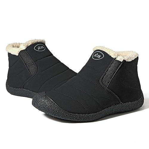 233034b7f gracosy Unisex Winter Warm Booties, Anti-Slip Ankle Booties Waterproof Slip  On Warm Fur Lined Sneaker