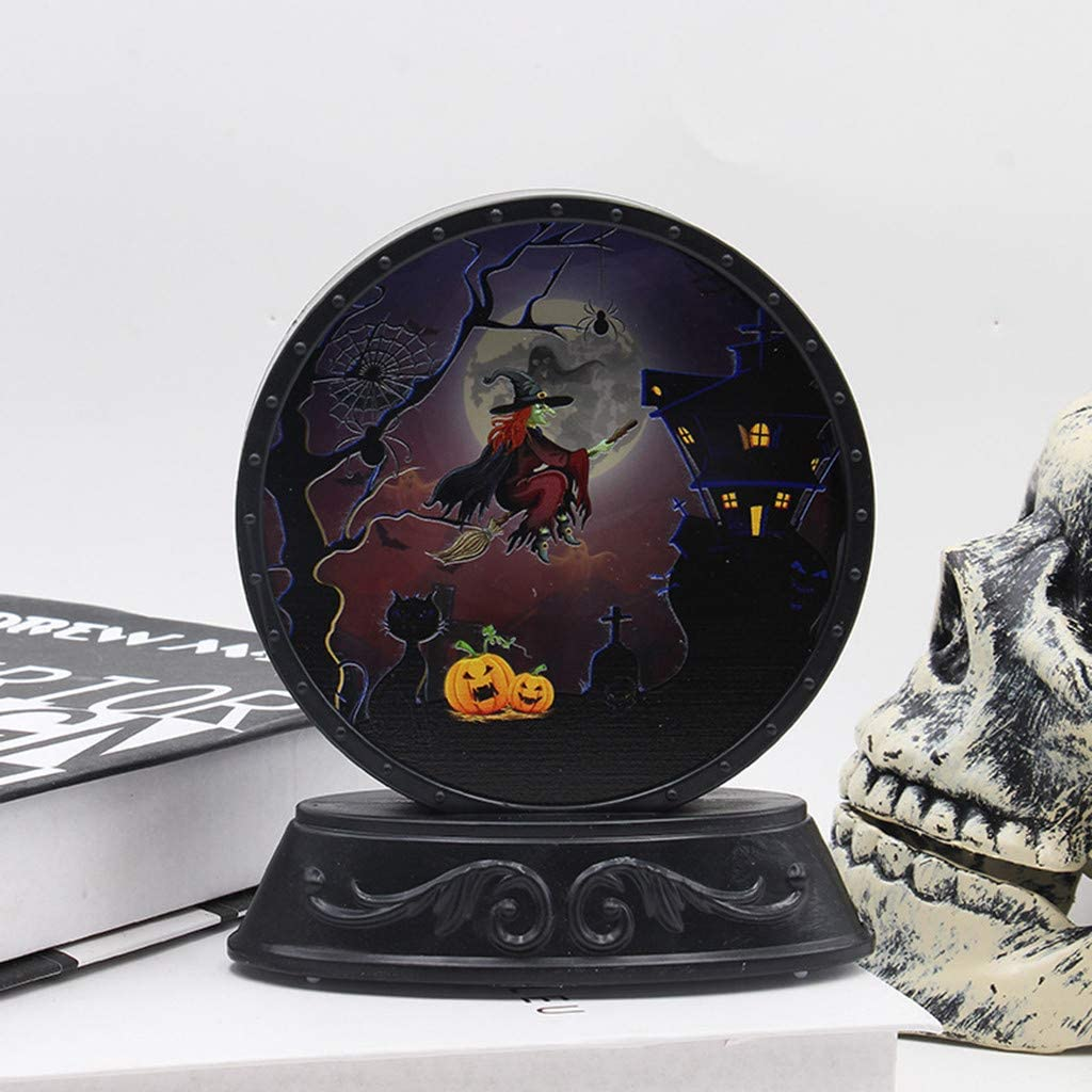 Without battery 1Pc Halloween Scary Skull Light Three Ghost Head Lamp