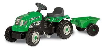 smoby 7033329 vlos et vhicules pour enfants tracteur vert avec remorque