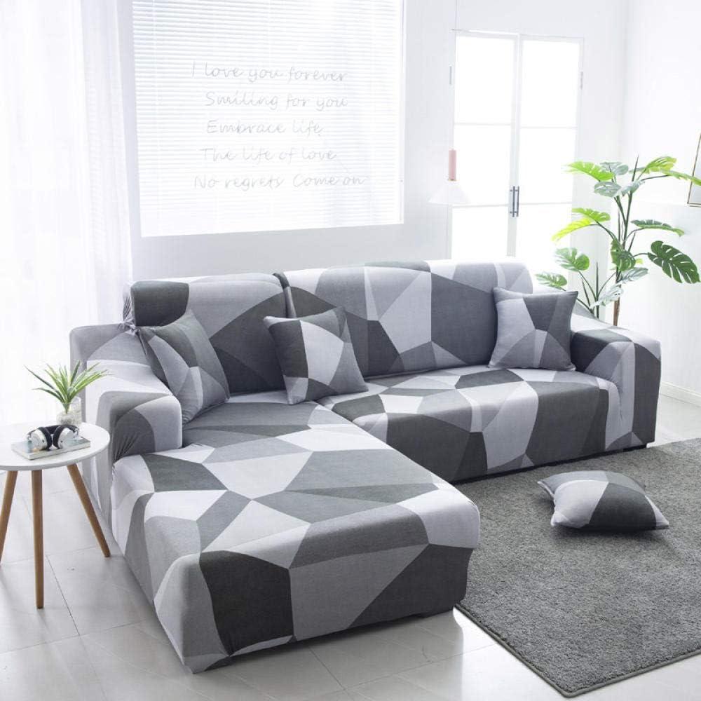Noctiflorous Muebles Elegante Sofa Cubre,Fundas de sofá Chaise Longue Spandex Fundas elásticas de Esquina de sección elástica-11_2-Asiento_y_3-Asiento,Funda sofá Duplex
