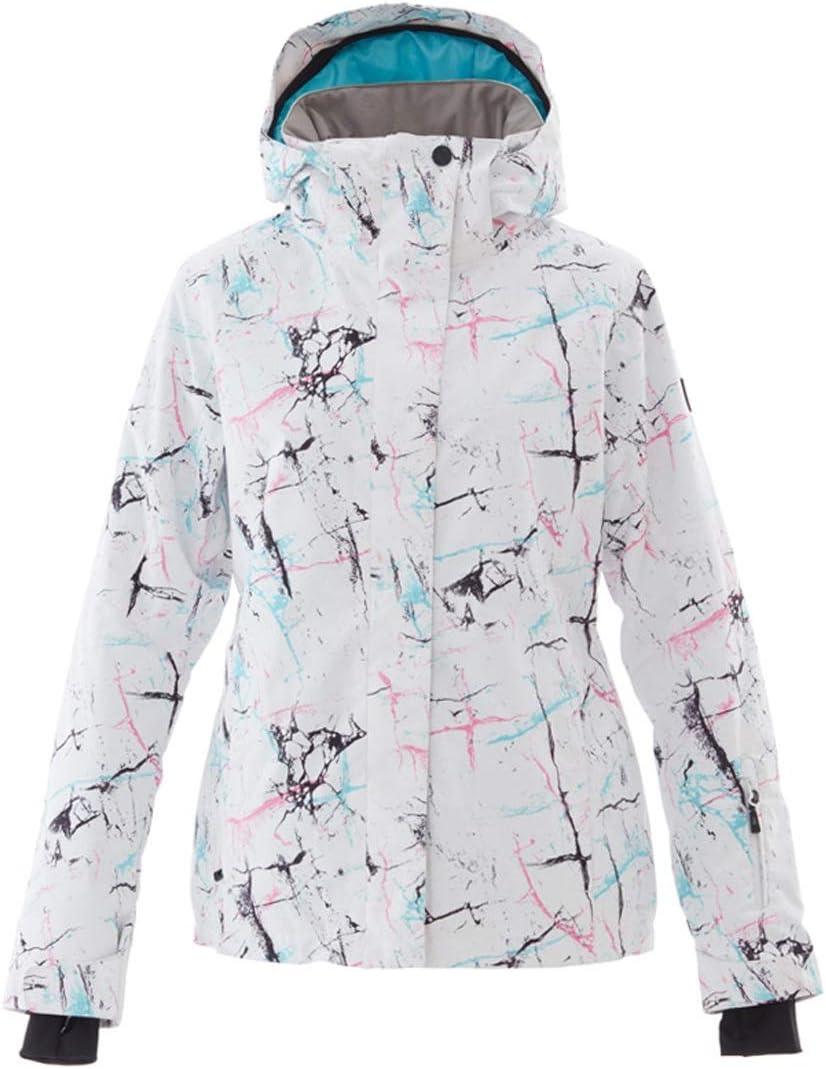 Makecny 雪の屋外ハイキングのためのメンズスキージャケットスノーボード防水防風スノージャケット (色 : ホワイト, サイズ : L) ホワイト Large