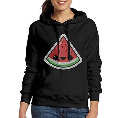 Watermelon Womens Long Sleeve Hoodie Sweatshirt Hooded Pullover Tops