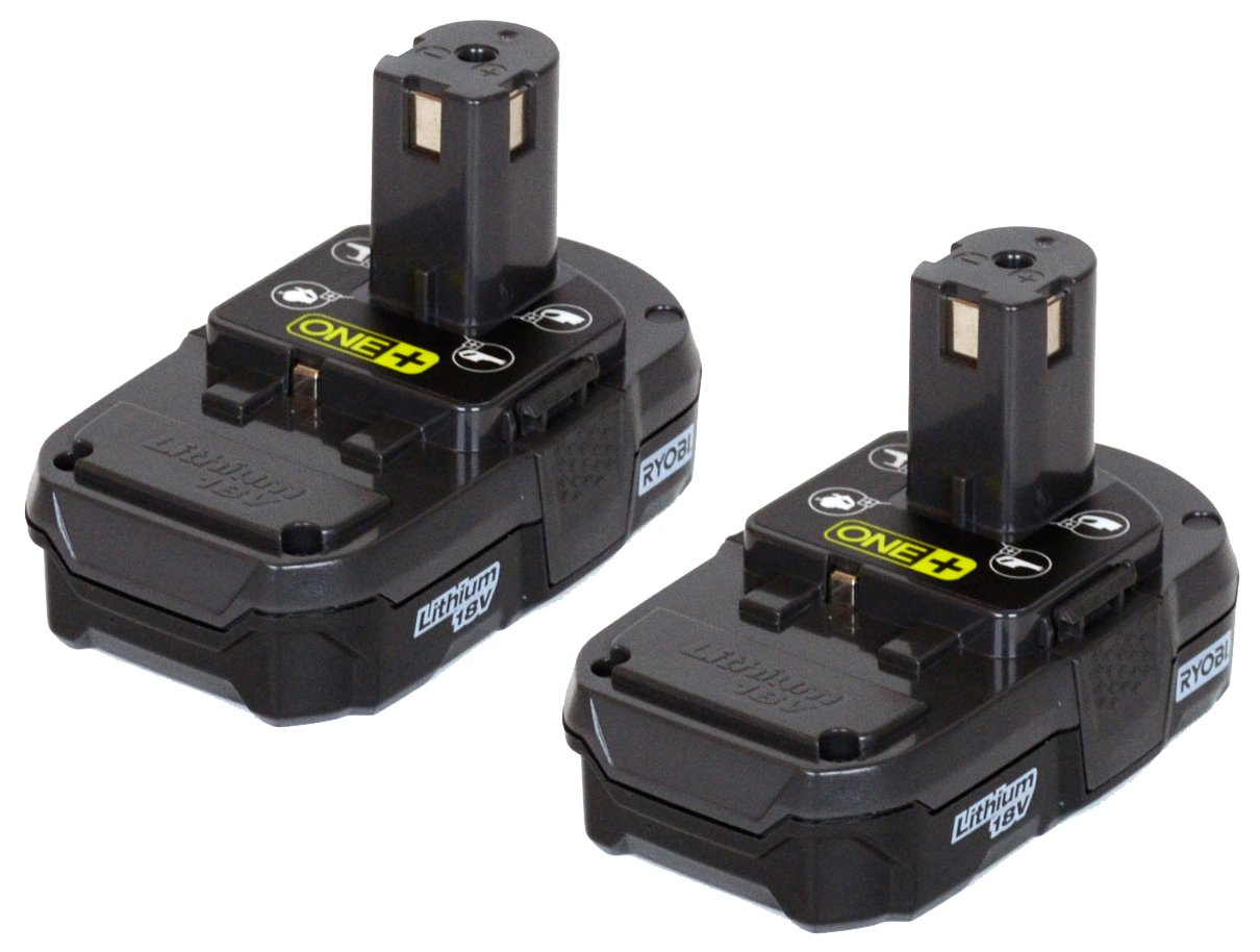 ryobi 2 pack p102 one lithium ion 18 volt compact. Black Bedroom Furniture Sets. Home Design Ideas