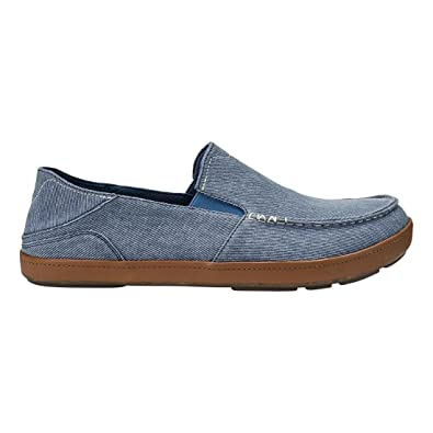 36a84cc17c1 OLUKAI Puhalu Canvas Shoe - Men s Vintage Indigo Tan