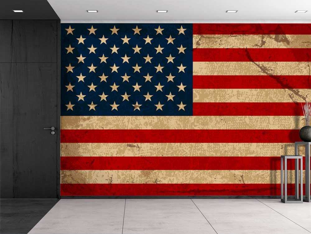 Art prints framed art canvas prints for American flag wall mural