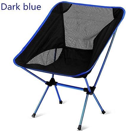 GFF Silla de Camping Azul Silla Plegable portátil Simple ...