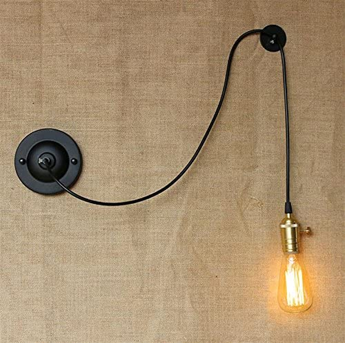 AllureFeng Pequeñas luces de pared retro rústico aplique negro de loft industrial lámpara de pared retro lamparas Arandela de Pared: Amazon.es: Iluminación