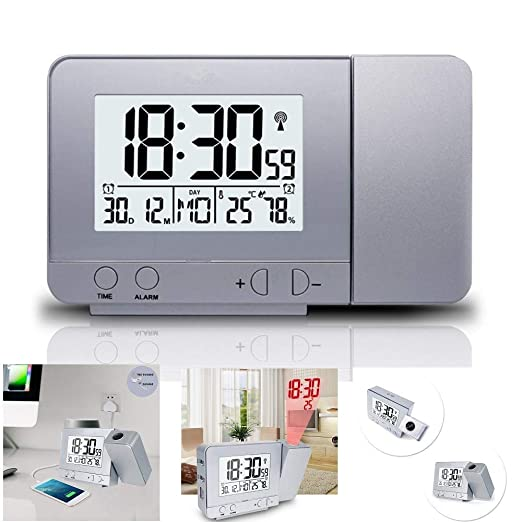 XxSmile Despertador Digital Proyector Reloj y Despertador ...