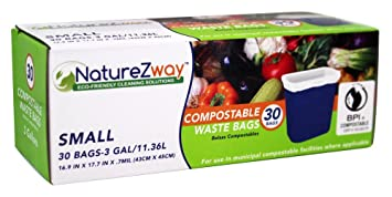 Amazon.com: NatureZway - Small Compostable Waste Bags, 3 ...