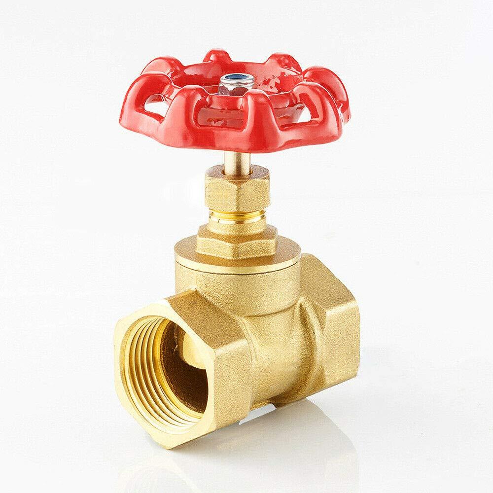 v/álvula de lat/ón de dos v/ías para aceite de vapor de gas de agua dorado V/álvula de desconexi/ón hembra a hembra BE-TOOL 1 unidad