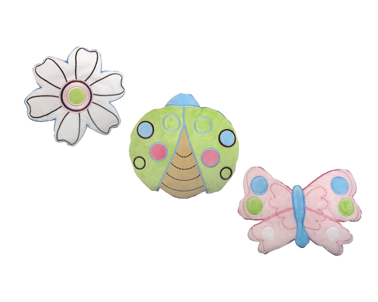 NoJo Ladybug Lullaby 3 Piece Wall Hanging Set Discontinued by Manufacturer