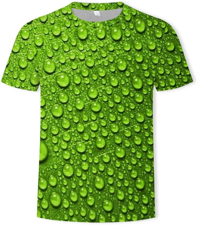 DGSGBAS Camisetas de Manga Corta con 3D Impresas,Gota de Agua ...