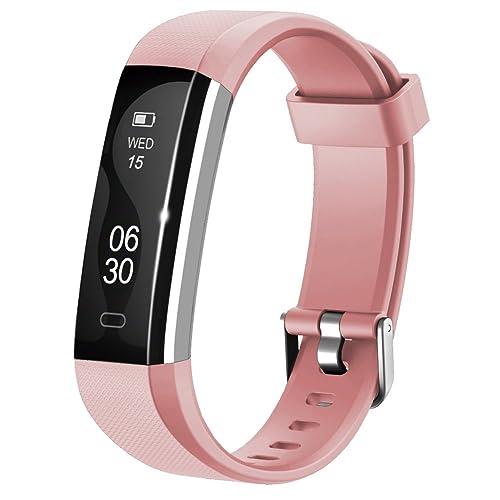 Lintelek Activity Tracker Slim Fitness Tracker Watch, Touch Screen Bluetooth Pedometer Smart Bracelet with Anti-lost Strap
