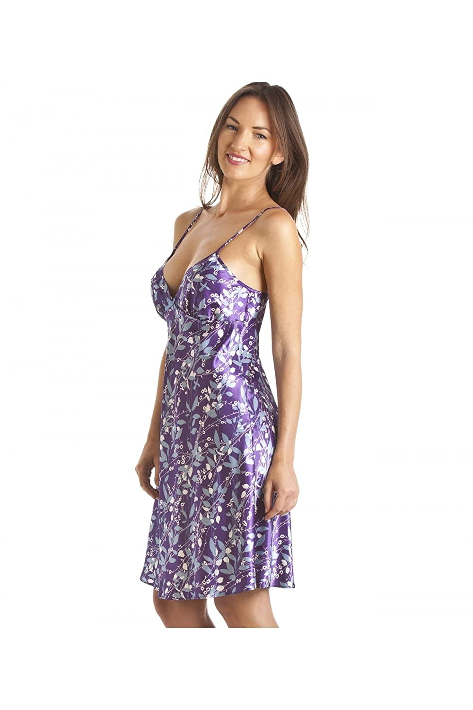 62bc6517fa free shipping Camille - Camisón satinado para mujer - Estampado floral