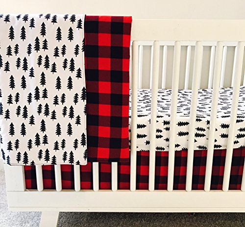 AllTot Crib Bedding Set- Forest Adventure - 3 Piece Boy crib