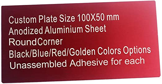 including engraving Acrylic exterior sign 50mm x your choice depth