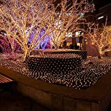 Bestface 3m x 2m 210 LED Clear Net Lights Fairy Lights Outdoor Party Christmas Xmas Wedding Home Garden Decorations 8 Modes for Flashing (Warm White)
