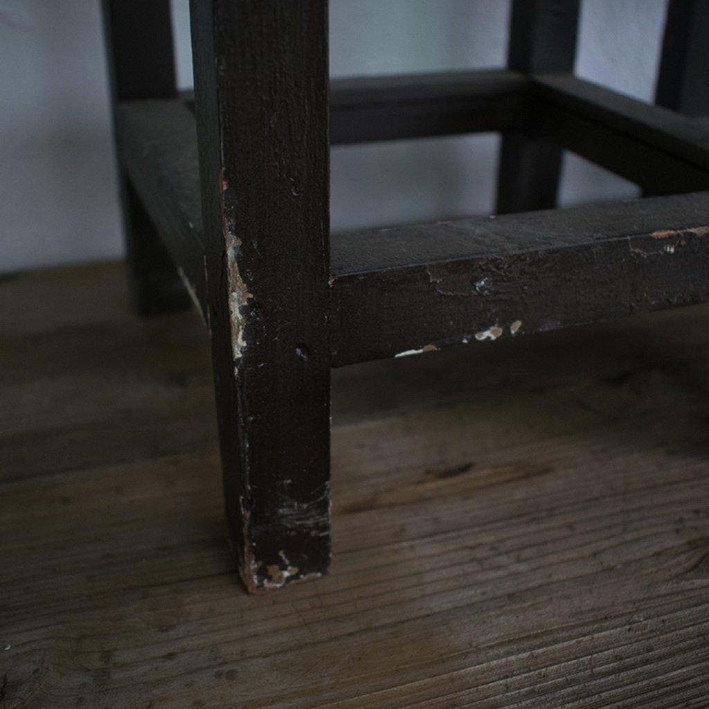 brun Au sol QFF Étagère à plantes en bois vintage étagère en ...