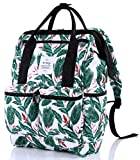 DISA Chic Doctor Bag Style College Backpack Travel Daypack | Tropical White