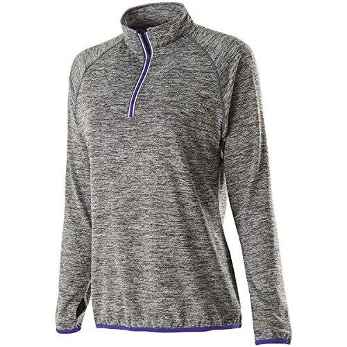 Holloway Sportswear WOMEN'S FORCE TRAINING TOP Women's 2XL Carbon Heather/Purple by Holloway