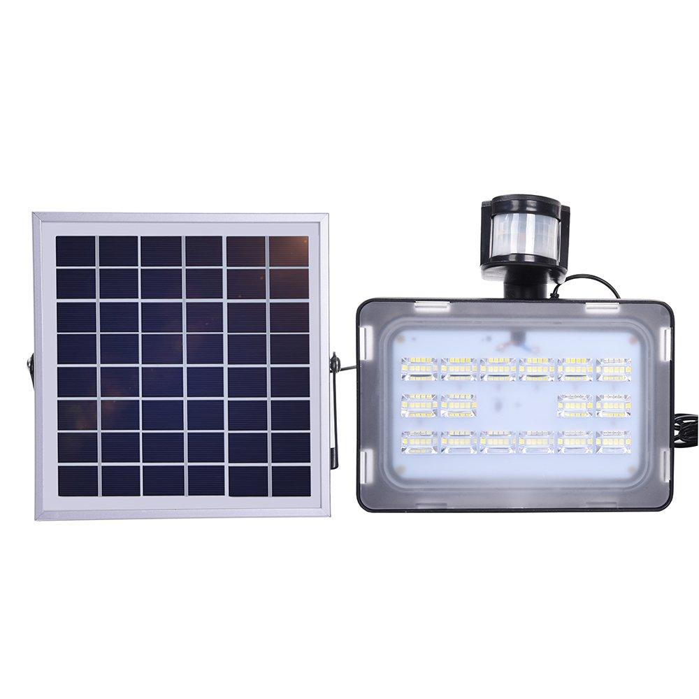 60 LED Solarlampe Außen Leuchte Solarstrahler Bewegungsmelder Sensorlicht DHL!!