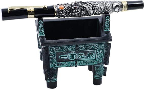 JINHAO classic Emboss Gun gray Dragon and phoenix GIFT Fountain Pen
