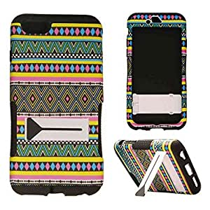 CellTx Hopper Case For Apple (iPhone 6 Plus) Double Layer Texture Cover (Tribal, Pattern, Diamonds) AT&T, T-Mobile, Sprint, Verizon, Boost Mobile, U.S Cellular, Cricket by runtopwell