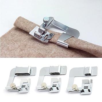 Juego de 3 prensatelas para máquina de coser, multifunción, para envolver y dobladillo, de XGZ: Amazon.es: Hogar
