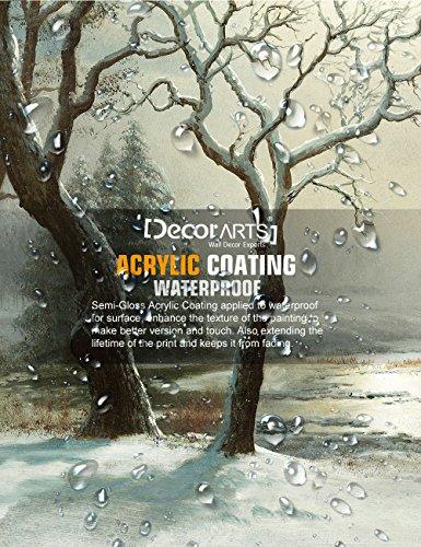 DECORARTS Winter in Yosemite, Albert Bierstadt Classic Art Reproductions. Giclee Prints Wall Art for Home Decor 30x20 x 1.5