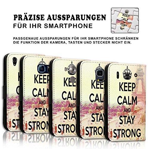 Wallet Book Style Flip Handy Tasche Case Schutz Hülle Schale Motiv Etui für Apple iPhone 5 / 5S - Design Flip MVD357